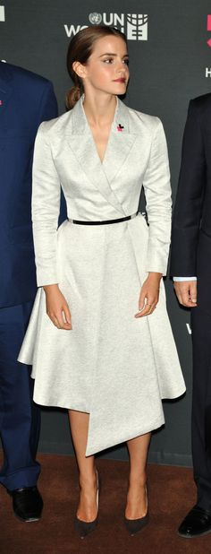 Emma Watson in Dior. Photo: Steve Sands/Getty Images