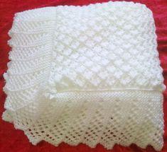 Stunning New Hand Knitted Baby Shawl Blanket 36 x 36 Ins | eBay
