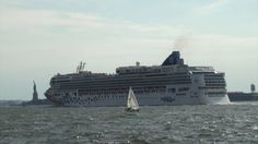 awesome New York Cruise Ships - July 14, 2012 (Explorer of the Seas & Norwegian Gem)