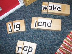 word making with blocks