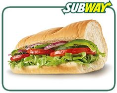 6 grams of fat or less: Subway Veggie Delite