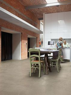 Dreaming about your perfect paving system - Ideal Work: concrete finishes Concrete Finishes, Concrete Art, Loft Interior, Interior Design, Cement Walls, Wall And Floor Tiles, Your Perfect, Kitchen Flooring, Living Spaces