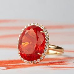 Get ready for a sizzling RED HOT, fire opal kinda summer on ACK! : @thevaultnantucket #katherinejetter #fireopal #opals