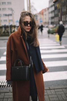 brown coat outfit