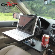 Portable Foldable Car Laptop Stand Foldable Car Seat/Steering Wheel Laptop/Notbook Tray Table Food/drink Holder Stand SD-1504