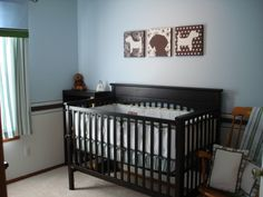 blue green  nusery | Ryland's Room, This is our baby boy's nursery. We painted light blue ...