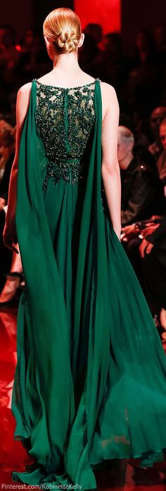Elie Saab Haute Couture | F/W 2013 emerald green is always lovely