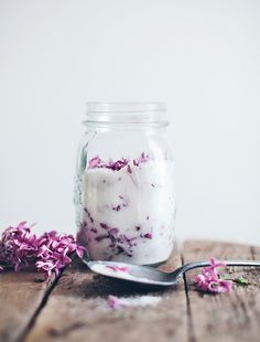 Easy to make Lilac Sugar. This would be a unique and beautiful gift or favor.