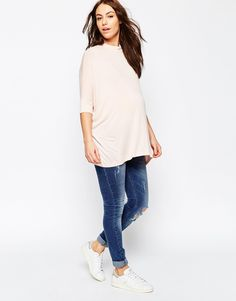 Image 4 - ASOS Maternity - Top ample à col montant