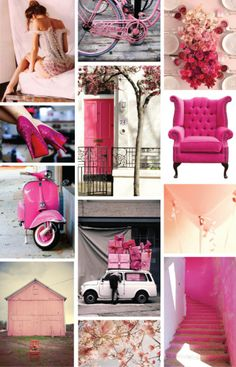 Pink, Magenta & Ruby Inspiration Board