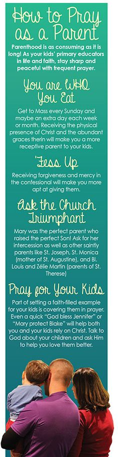 Parents are Primary Educators - we have to pray for our kids, but pray for ourselves, too!