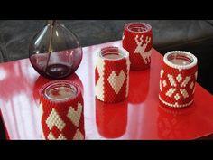 DIY Perlenkerze - Hama Beads Candle - YouTube