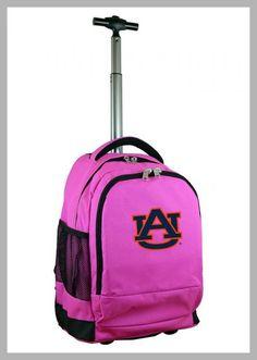 NCAA Auburn Tigers Pink Premium Wheeled Backpack - Price History #NCAA #Auburn #Tigers