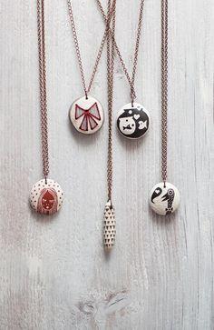 pendants in ceramic