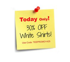 30% off white shirts - Today only