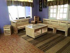 Pallet Furniture Set for Living Room
