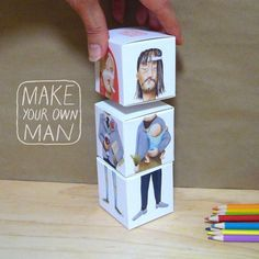 make you own man cubes. by sandra eterovic.