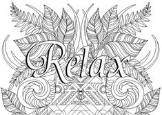 RELAX coloring page adult coloring page by COLOURSandEMOTIONS