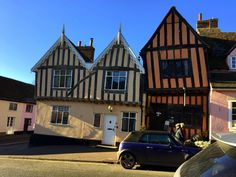Lavenham Bury St Edmunds, Cabin, Mansions, House Styles, Home Decor, Decoration Home, Manor Houses, Room Decor, Cabins