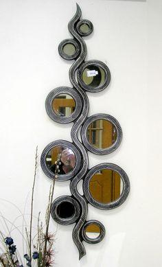 Χειροποίητη δημιουργία σε ξύλο-δείγμα απ τη μεγαλύτερη σειρά χειροποίητων καθρεφτών στην Ελλάδα.Για να δείτε περισσότερα/// www.x-esio.gr Washer Necklace, Jewelry, Jewlery, Jewerly, Schmuck, Jewels, Jewelery, Fine Jewelry, Jewel