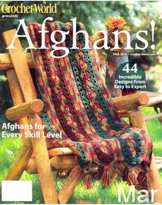 Crochet world afghans fall 2010 Pas de Dl Knitted Afghans, Tunisian Crochet, Knit Or Crochet, Knitted Blankets, Crochet Shawl, Crochet Stitches, Crochet Patterns, Crochet Ideas, Baby Patterns