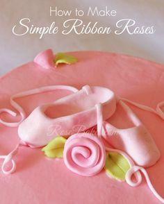 How to Make Simple Ribbon Roses. Návody Na Zdobenie TortZdobenie ... 99a321d1579