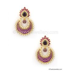 Chand Bali with meenakari work - Earrings by The Art Jewellery