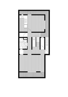 Concrete Slit House / AZL architects | basement plan