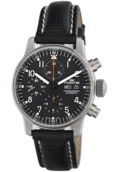 Fortis Men's 597.22.11 L Pilot Professional Chronograph Watch:Amazon:Watches