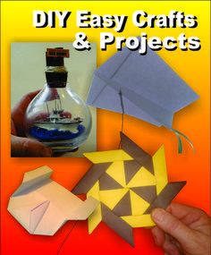 Great site for simple craft and project ideas. Everything from Origami ninja stars and single sheet paper kites to Ships in Bottles and Hidden Bookcase doors.