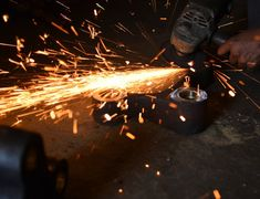 Wheel Grinding On Steel - Photo - Free Images Steel Structure, Grinding, Free Images, Light Bulb, Tools, Decor, Steel Frame, Bulb Lights, Decoration