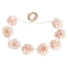 Burlap Floral Garland
