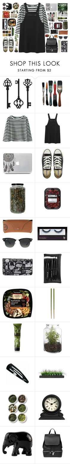 """I'm missing you, and it is killing me."" by tiaranrnd ❤ liked on Polyvore featuring Brewster Home Fashions, Monki, Converse, Ray-Ban, BBrowBar, Henri Bendel, e.l.f., Crate and Barrel, Aesop and Vintage"