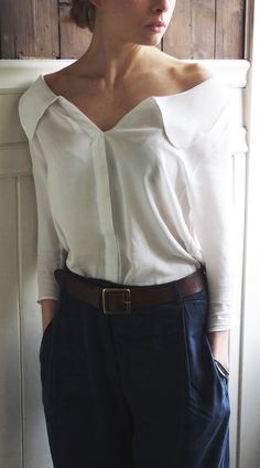 Off shoulder blouse.