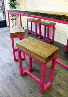 #muebles #madera #wood #taburete