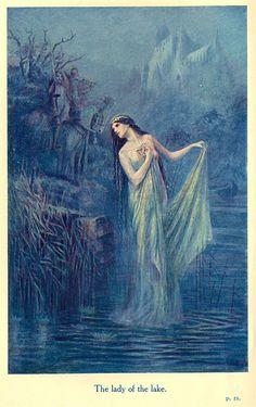 La Dama del Lago, en una ilustración hecha por Lancelot Speed.