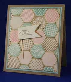 card made with Six Sided Sampler, Stampin up.