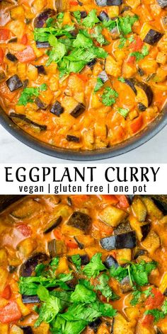 Super easy and one pot ready in under 30 minutes this Eggplant Curry is a keeper rich creamy and satisfying for dinner lunch meal prep and so much more. Everyone will love it in no time. Lunch Recipes, Vegan Recipes, Dinner Recipes, Healthy Eggplant Recipes, White Eggplant Recipes, Dinner Ideas, Healthy Desserts, Lunch Ideas, Clean Eating Snacks