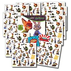 Kids' Stickers - Zootopia Stickers Party Favors  Set of 2 Sticker Packs  12 Sheets Over 240 Stickers plus Bonus Reward Stickers Nick Wilde Finnick Judy Hopps Mr Big and More >>> Be sure to check out this awesome product.