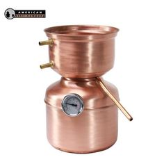 1.5 Gallon Mushroom Top Copper Pot Still. his still is capable of distilling White Whiskey, Whiskey, Scotch, Bourbon, Rum, Cognac, Tequila, Vodka, Schnapps, Moonshine, Essential Oils and more!