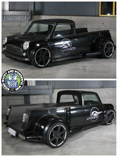 HAPPY HUMP DAY Miniacs  Getting the Wide Arched Wednesday wheels rolling is the gorgeous V8 Lazareth Mini Pickup! What a wicked beast. Have a great day folks