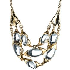 Three Strand Liquid Pebble Necklace by Alexis Bittar   Charm & Chain