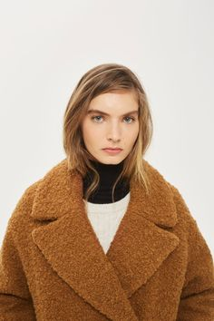 ALICIA Boucle Slouch Coat - Jackets & Coats - Clothing - Topshop