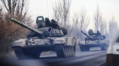 Nato says it has observed columns of Russian troops and military equipment entering eastern Ukraine, an allegation denied by Russia.