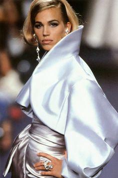 Emma Sjoberg, Lanvin by Claude Montana F/W 1991 Haute Couture