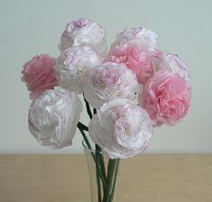 carnation wedding inspiration   DIY Wedding Details: Tissue Paper Carnations - Elizabeth Anne Designs ...