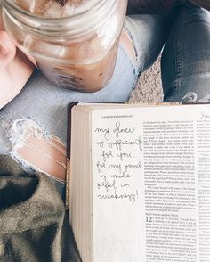 Part of me is taking time out of my day to read my bible! Also love bible study's with friends over coffee! Give Me Jesus, My Jesus, Jesus Christ, Bible Art, Bible Quotes, Bibel Journal, In Christ Alone, Frases Tumblr, God Is Good