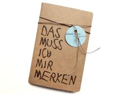 Notizbuch mit Spruch // quote notebook via DaWanda.com