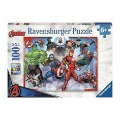 Ravensburger Puzzle Avengers Marvel 100pz XXL n.10808 Spiderman, Batman, Viborg, Camp Rock, Ravensburger Puzzle, The Avengers, Jurassic World, Infinity War, Toys