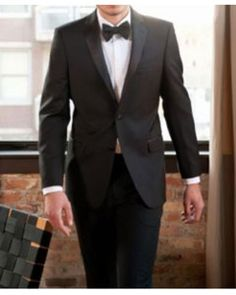 01a0dee65675c Wool Fabric Calvin Klein Tuxedo With 2 Buttons In Black Color For Men Buy  Tuxedo